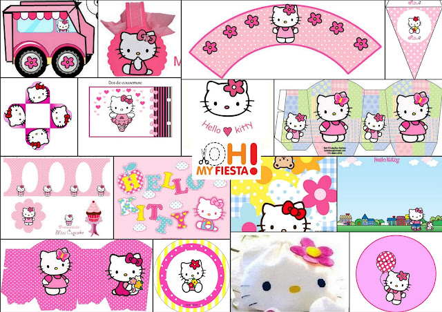 Hello Kitty Free Printable Kit In Pink Is It For PARTIES Is It - Free hello kitty birthday invitation templates