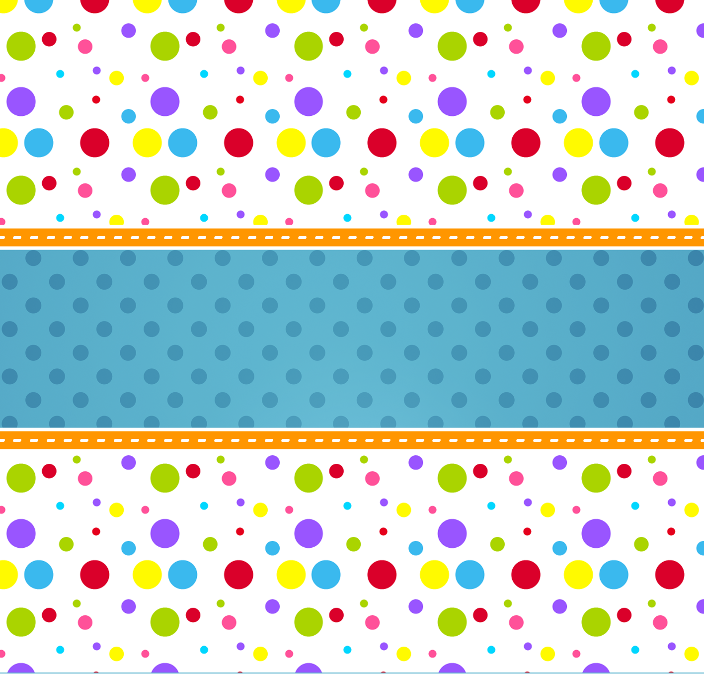 Colored Dots Free Printable Candy Bar Labels