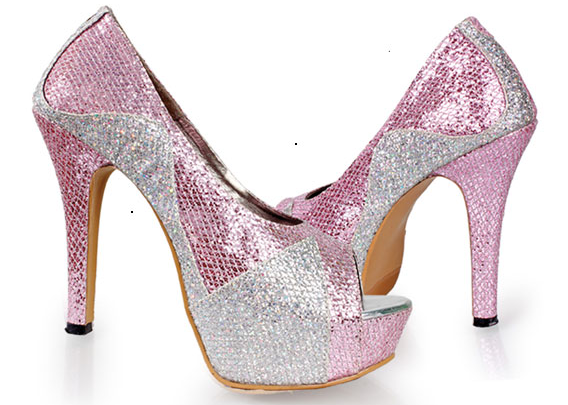 Sepatu: High heel Giardino Pink Silver (SDG-470)
