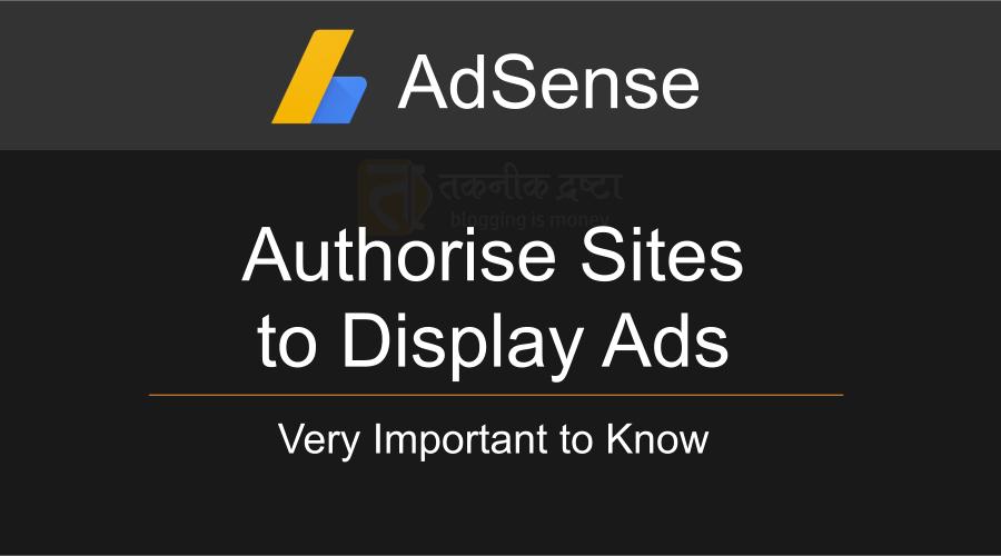 AdSense - Authorizing your sites