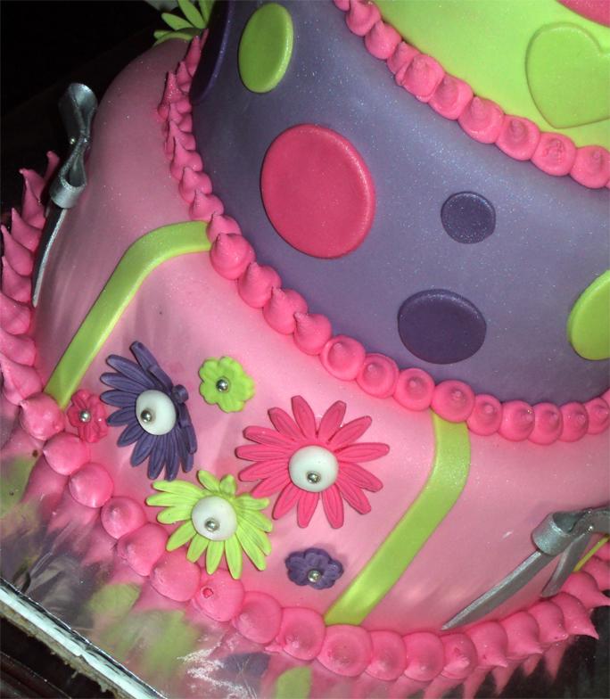 Delanas Cakes 3 Tier 1st Birthday Cake