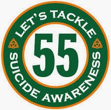 Team 55 Tackles Suicide Awareness