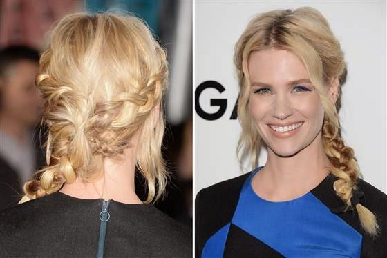 Gathered French braids