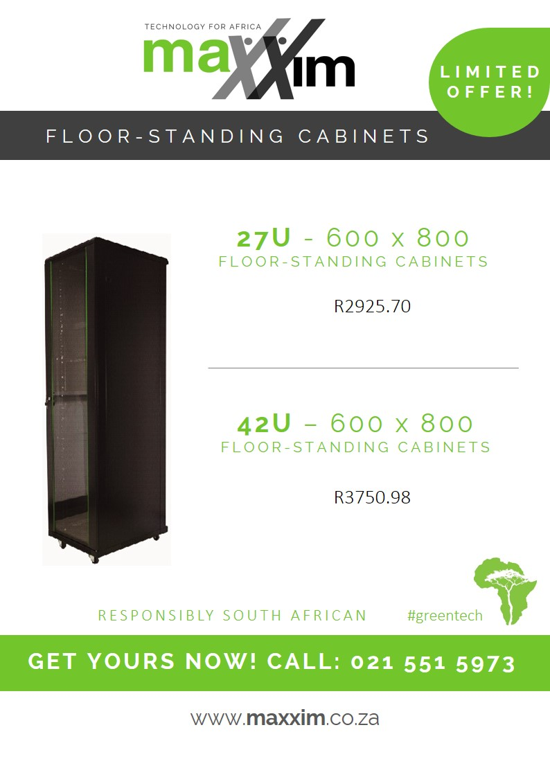 Maxxim's Floor-Standing Cabinets for Structured Cabling