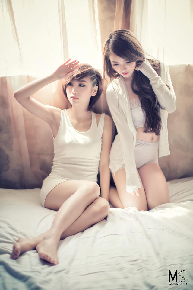 Ảnh gái đẹp HD Hot girl Linh Napie & Quỳnh Nhi 4