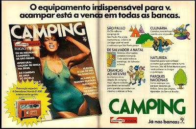 propaganda revista Camping - 1976. 1975, os anos 70; propaganda na década de 70; Brazil in the 70s, história anos 70; Oswaldo Hernandez;