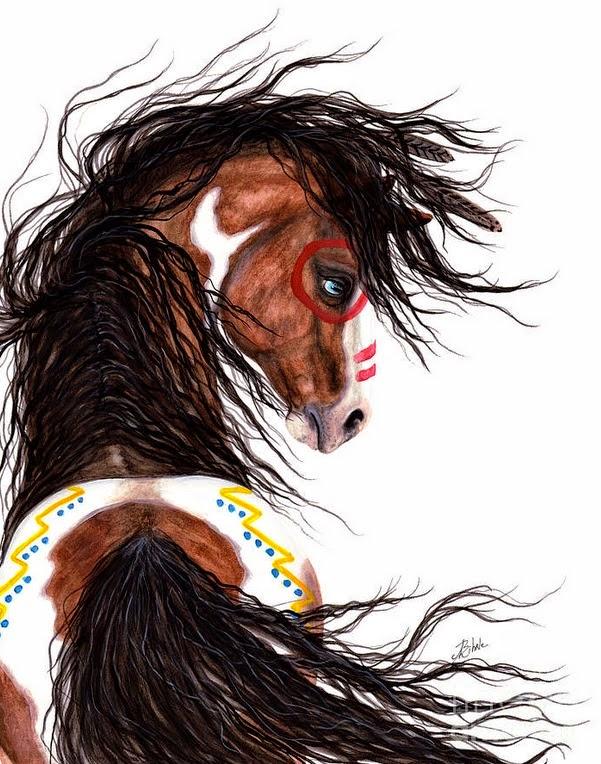 caballos-pintura-acuarela