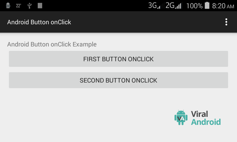 Android Button onClick