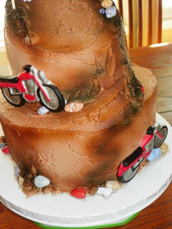 Plumeria Cake Studio Motocross Motorcycle Birthday Cake