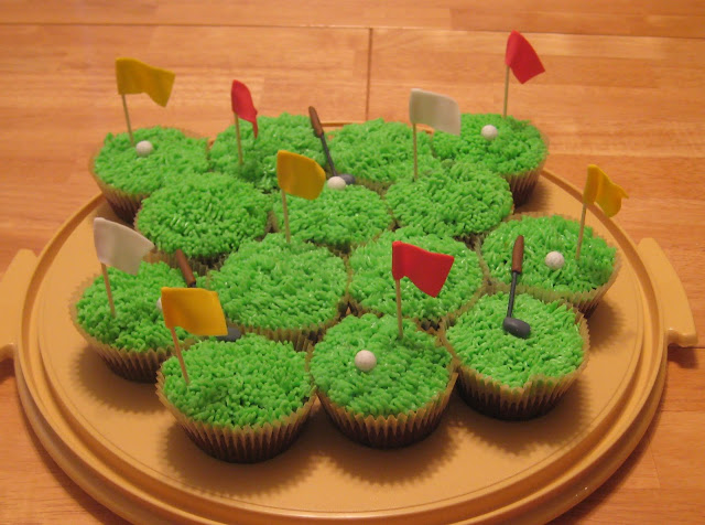 Golf Themed Cheesecake Brownie Cupcakes 1