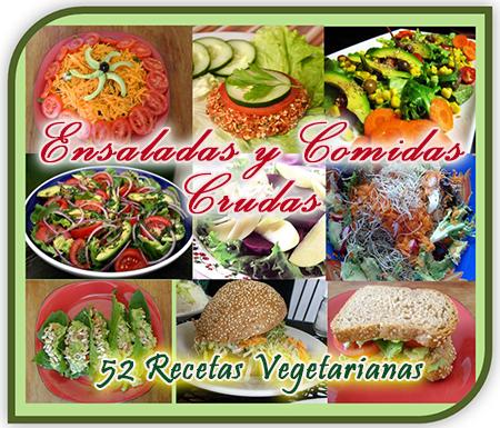 Ensaladas y Comidas Crudas - 52 Recetas Vegetarianas