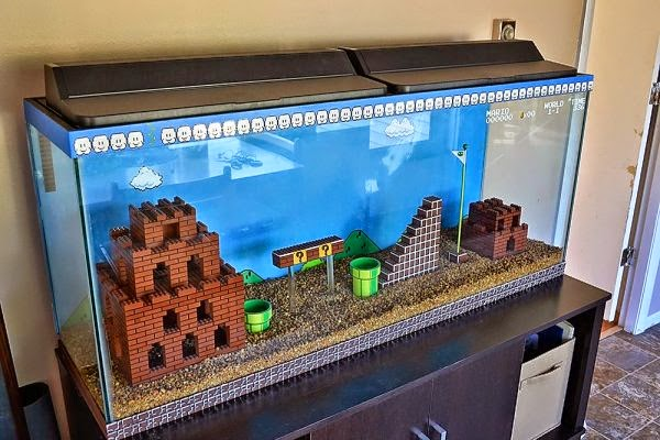 Super Mario Bros Aquarium for fans