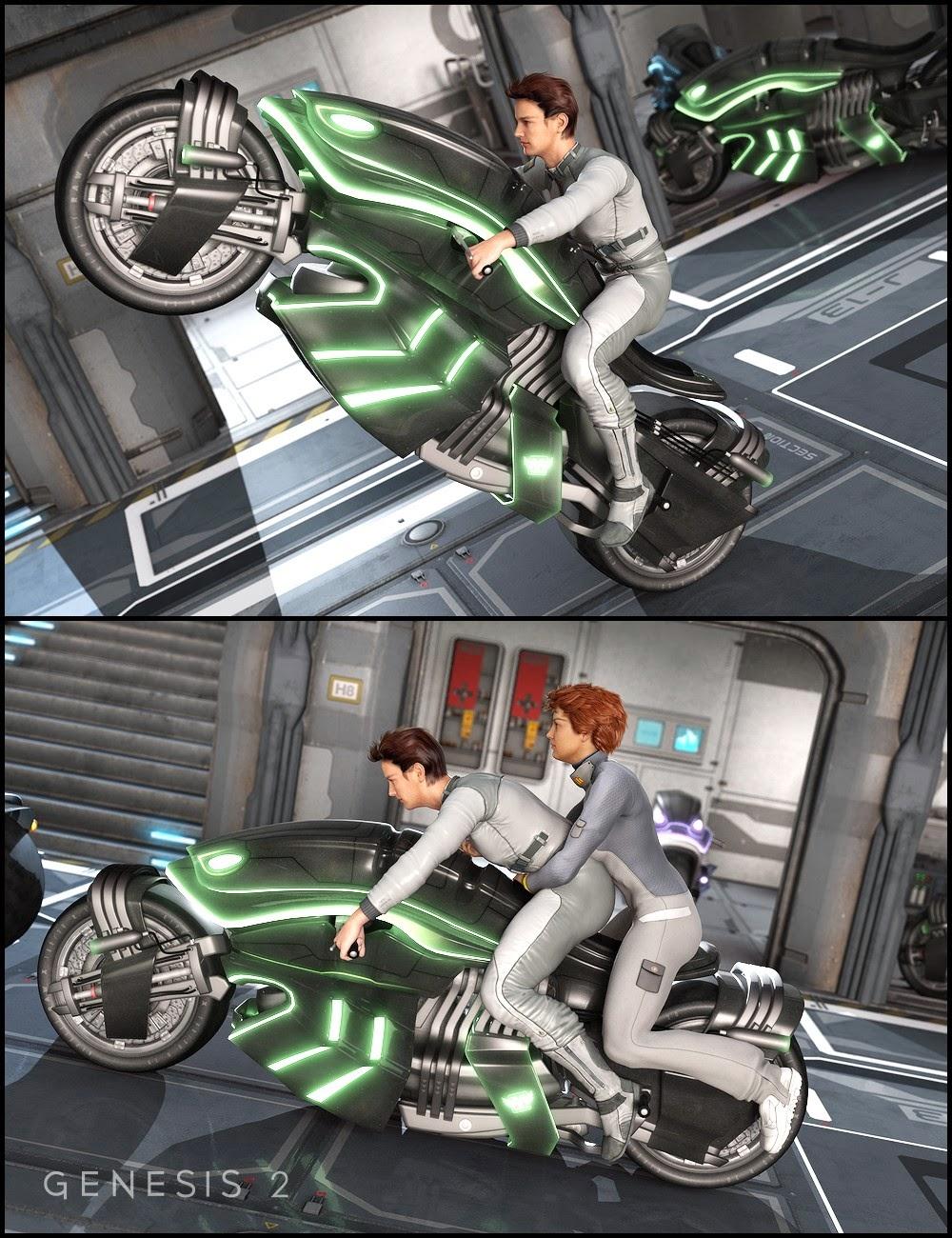 DAZ 3D - Le Rider