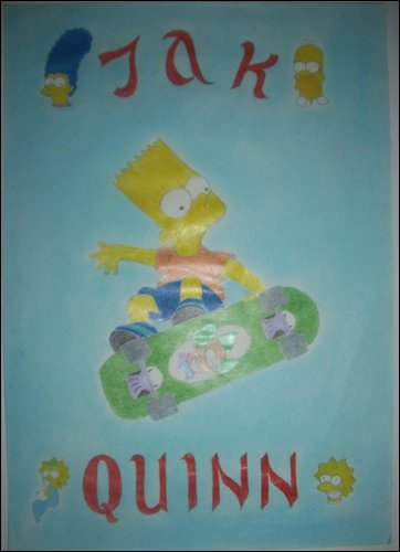 The Simpsons poster for my son Jak Quinn