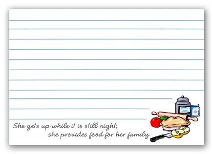 FREE Printable Proverbs 31 Recipe Cards TimeWarp Wife – Sample Recipe Card