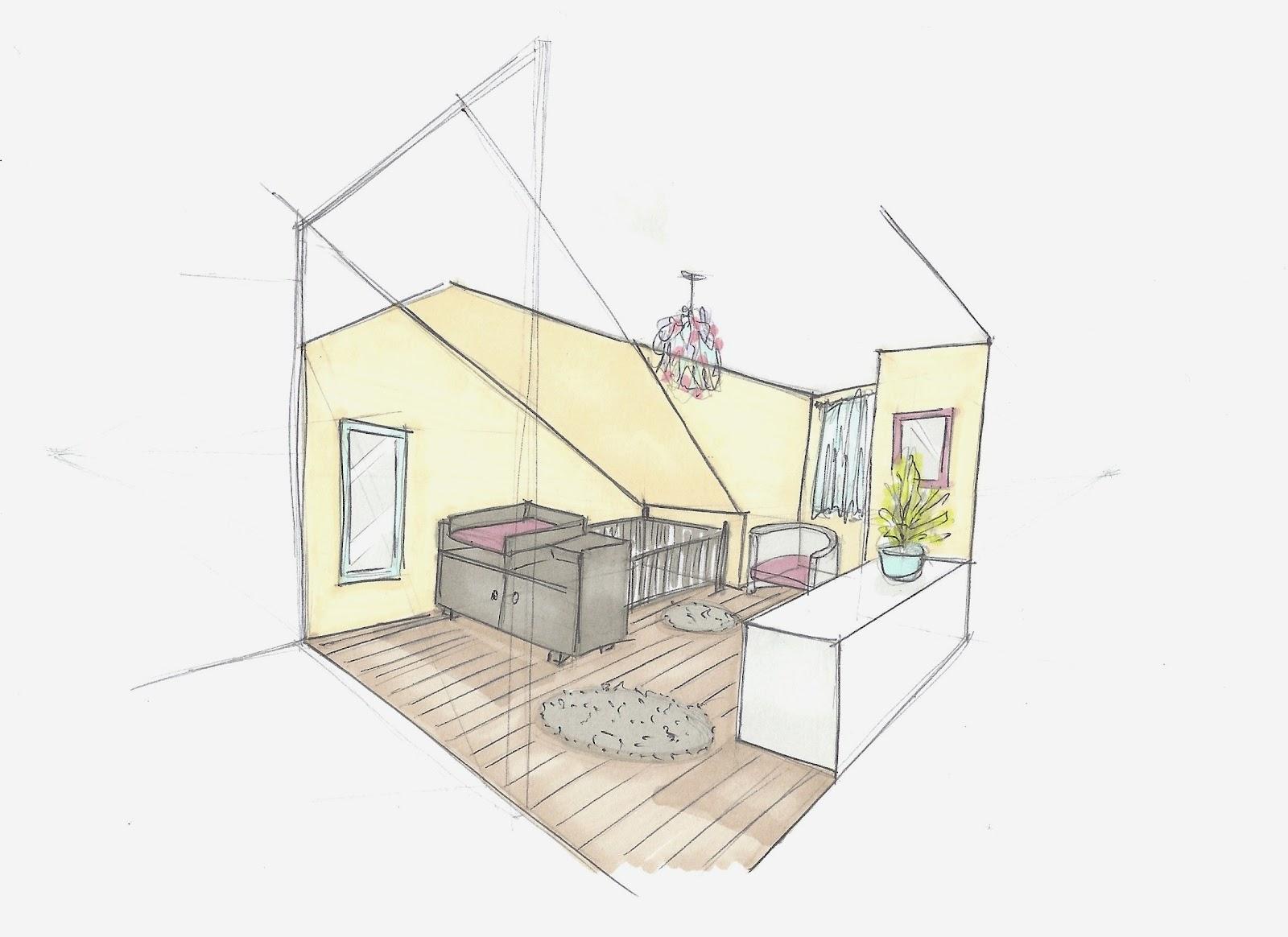 Adc l 39 atelier d 39 c t am nagement int rieur design d 39 espace et d coration d coration d 39 une - Dessin chambre bebe ...