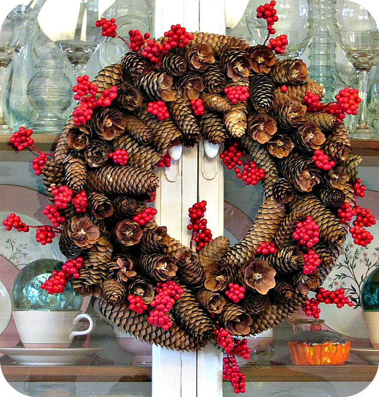simply simplisticated my diy pinecone wreath