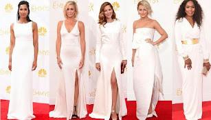 Premios Emmy 2014. Los vestidos blancos de las celebridades.