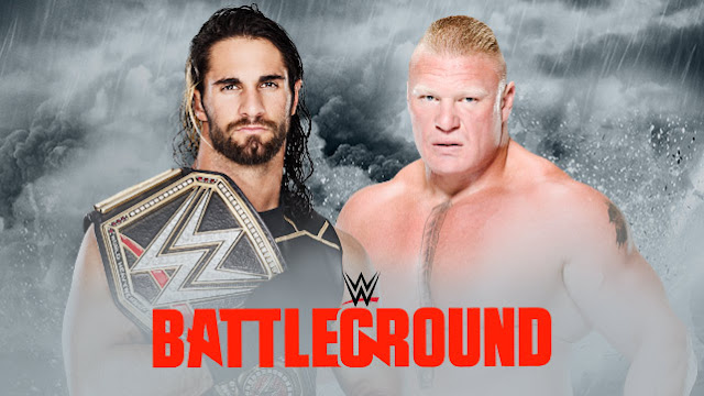 Seth Rollins vs Brock Lesnar-WWE World Heavyweight Championship Match in Battleground July2015