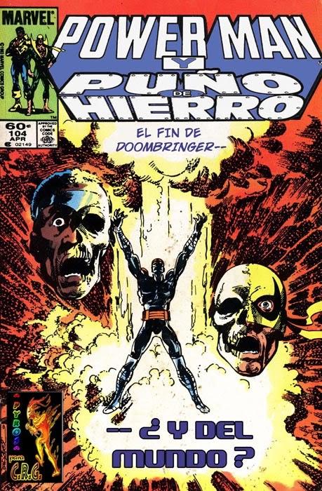 Portada Powerman y Puño de Hierro Nº 104 traducida