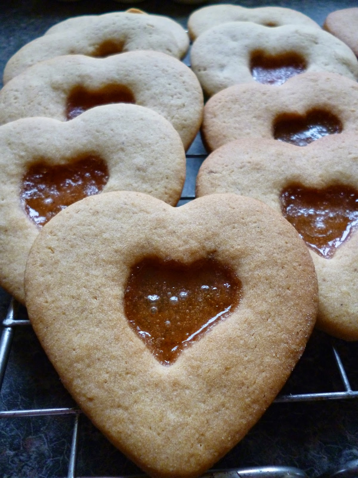 Heart shaped stained glass biscuits recipe