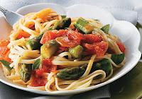 Linguini com Aspargos (vegana)
