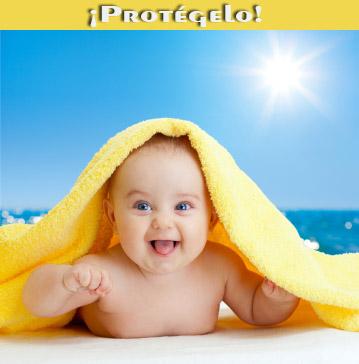 protección solar para los bebés