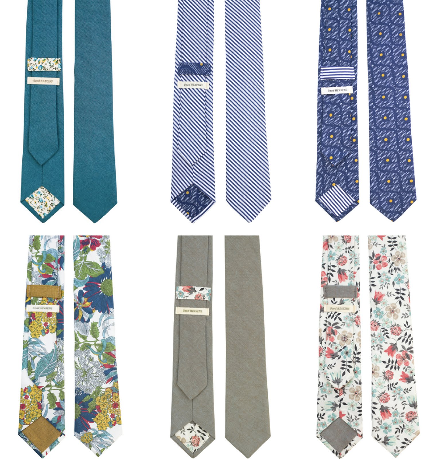 Love Good Heavens Neckties! Solid, or Print- it adds a little someting special to your wedding day!