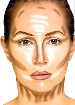 beauty and elegance contouring and highlighting makeup effects