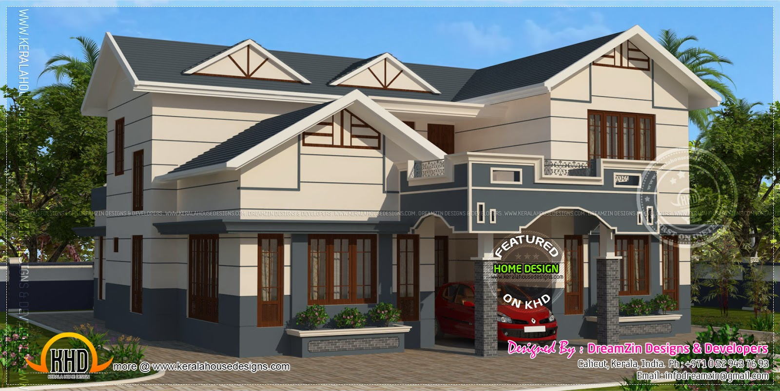339 square yards house elevation kerala home design and