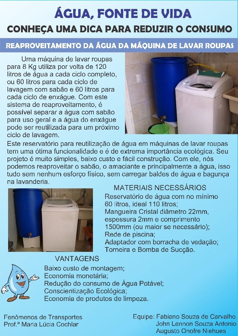 Well-known Fenômenos da Engenharia: Reaproveitamento de água de máquina de  YO49