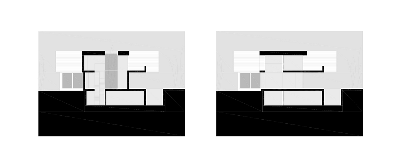 Planos de Casas con Fachada Minimalista