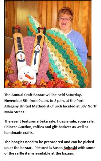 11-5 Craft Bazaar Port Allegany UMC