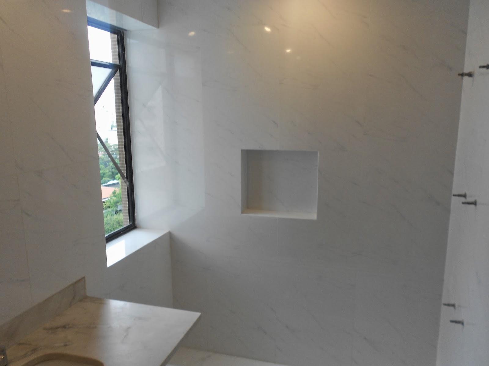 GLL CONSTRUÇÕES Banheiro em Porcelanato com Nicho -> Nicho Banheiro Em Porcelanato