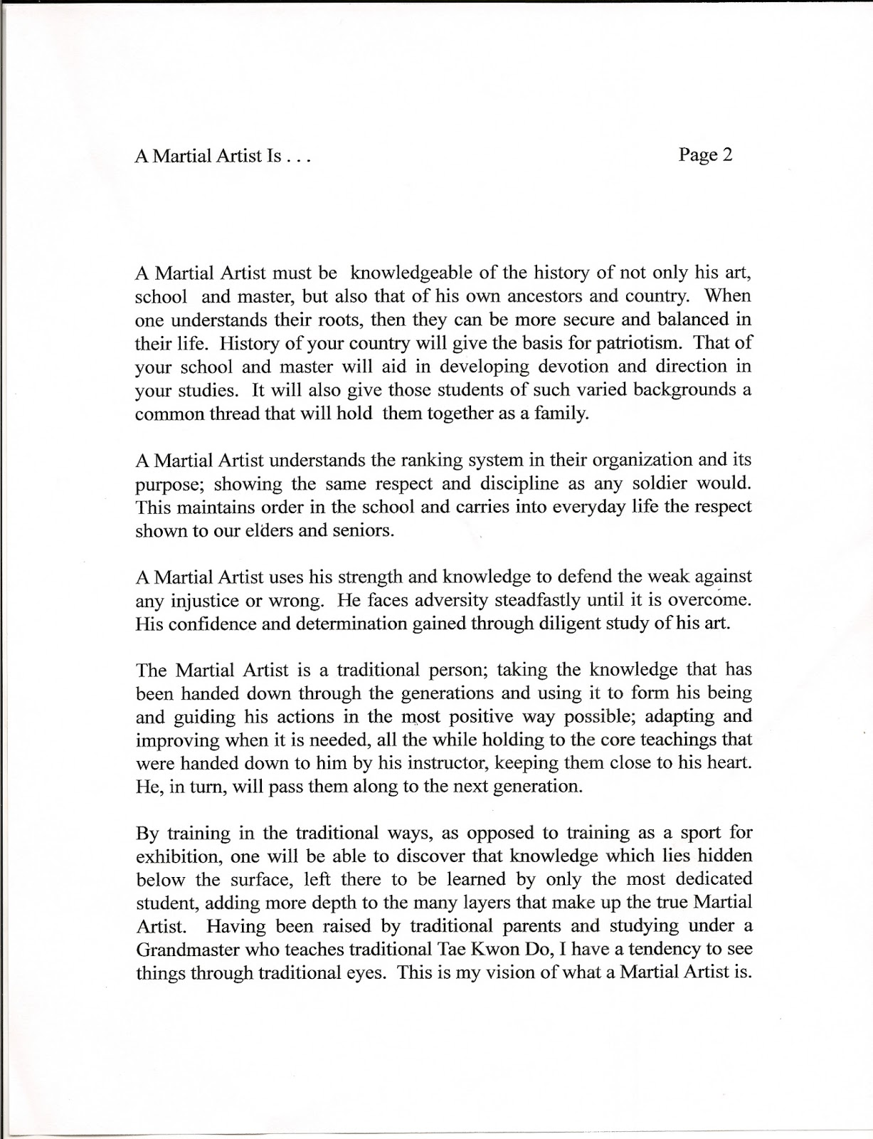 essay for black belt test All lower belt material and up to test material to black belt wtsda region #2 black belt testing requirements rev 1 (2/25/09) page 3  3 copies of essay .