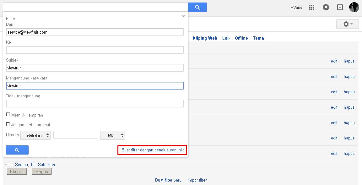 Cara membuat filter email dengan Google Mail (Gmail) 3