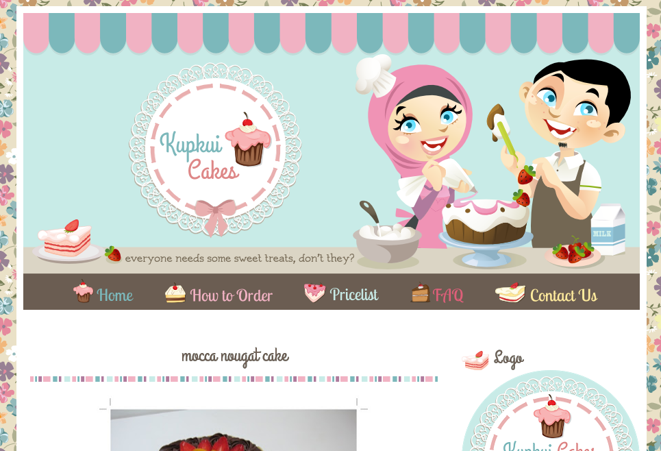Kupkui Cakes Blog Design | Ipietoon-Cute Blog Design: www.ipietoon.com/2013/01/kupkui-cakes-blog-design.html