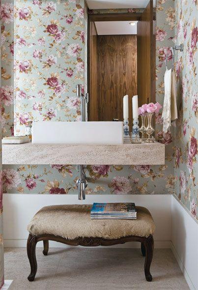 decoracao no lavabo: , idéias lindas de decoração nos mais diversos estilos e cores