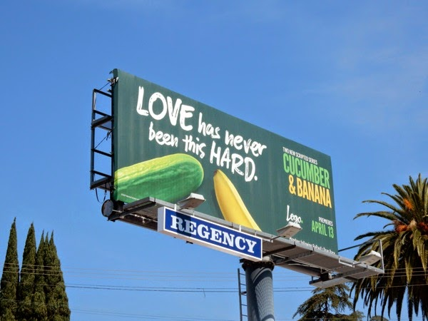 Cucumber and Banana series premiere billboard