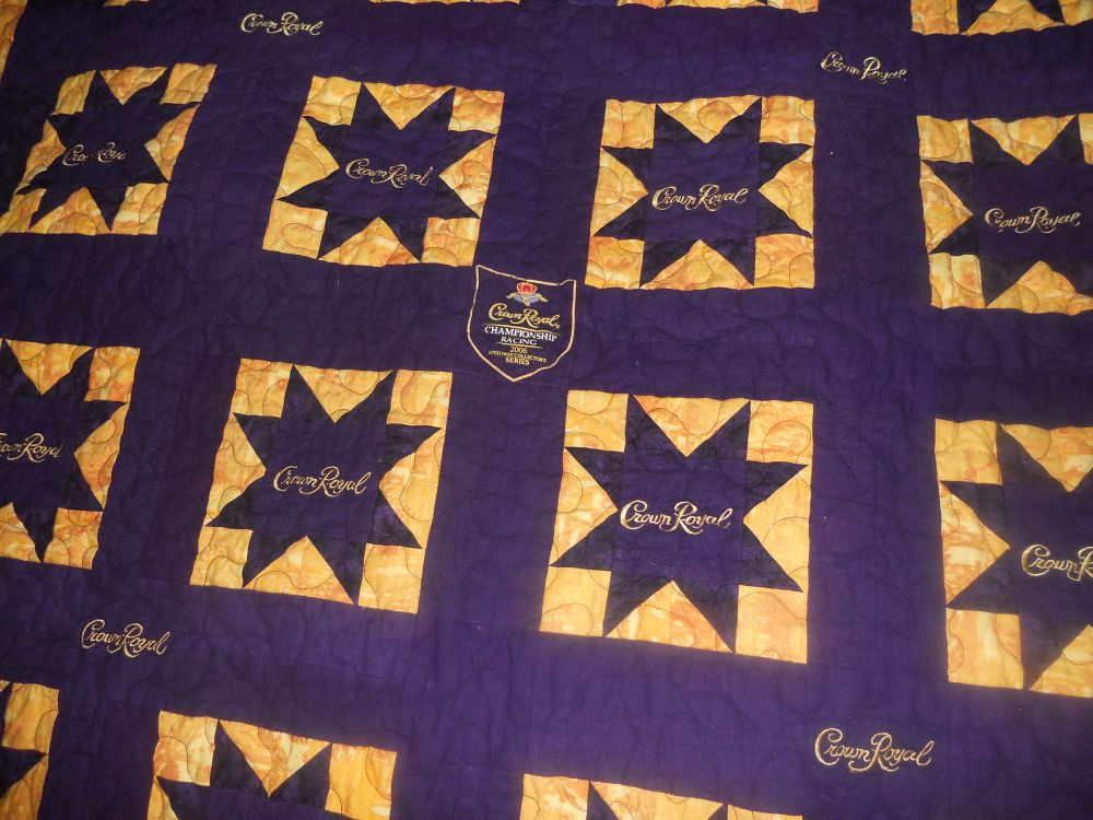 Katie's Quilts and Crafts: Crown Royal Quilt Finished! : crown royal quilt pictures - Adamdwight.com