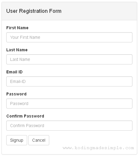 Codeigniter How To Create Simple Registration Form In Codeigniter