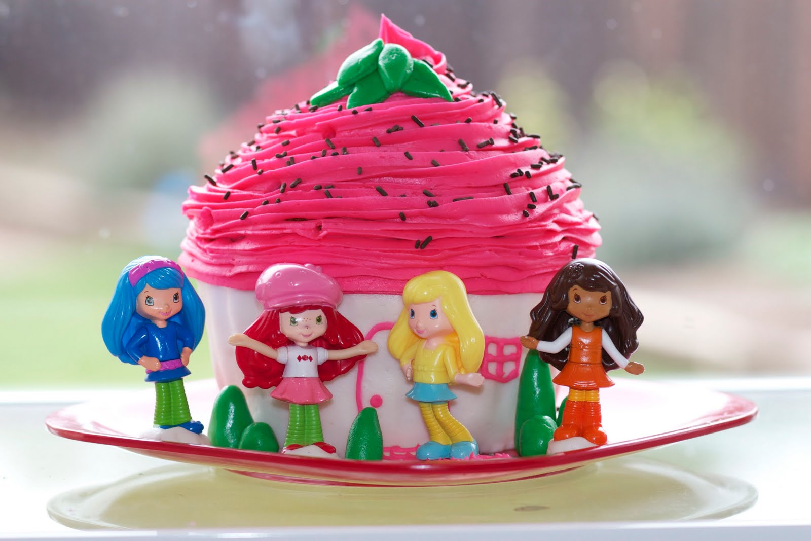 Cutest strawberry shortcake birthday cake for her daughter s birthday