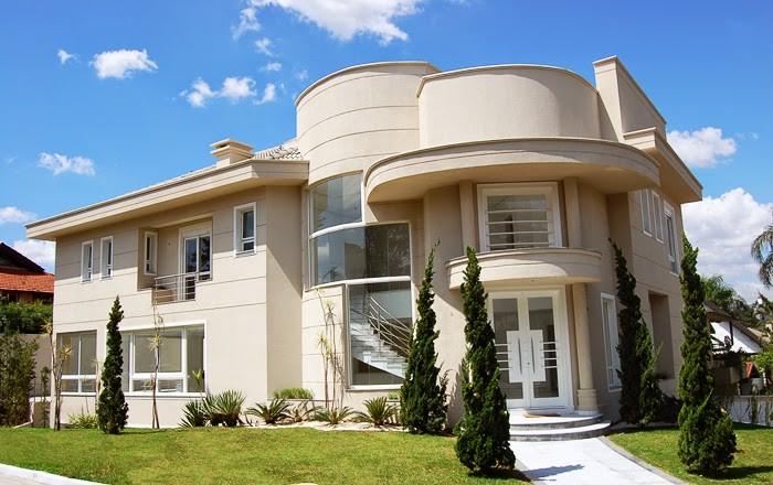 Fachadas de casas de esquina veja modelos modernos e for Casas modernas redondas