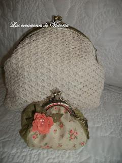 Las creaciones de Victoria. Monedero con boquilla .Monedero crochet.