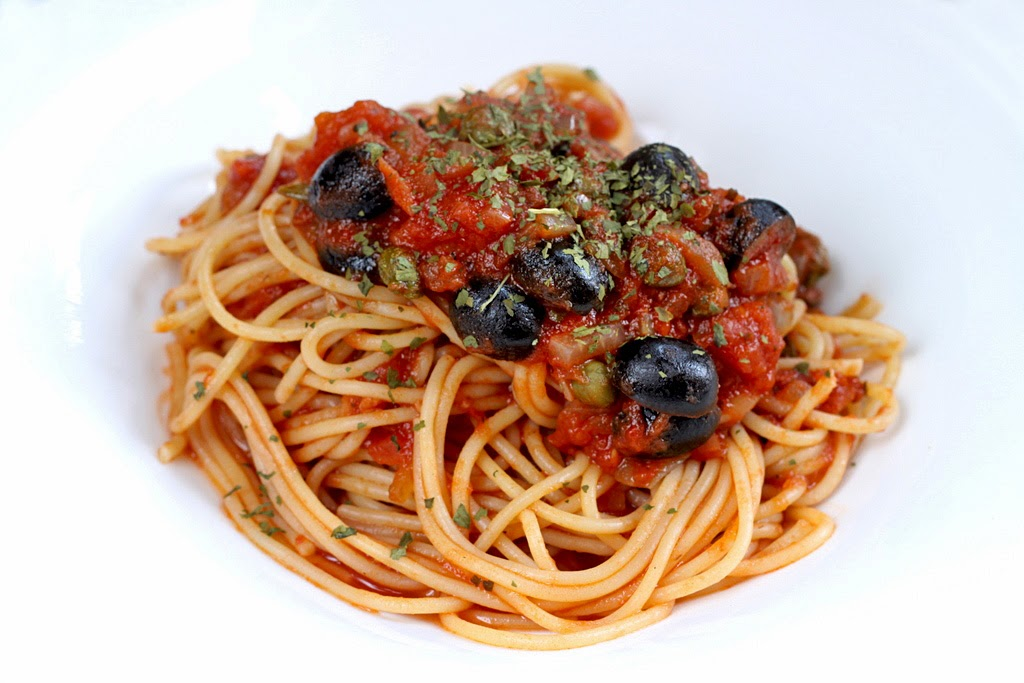 vegetarian puttanesca sauce pasta puttanesca with hot sausage and ...