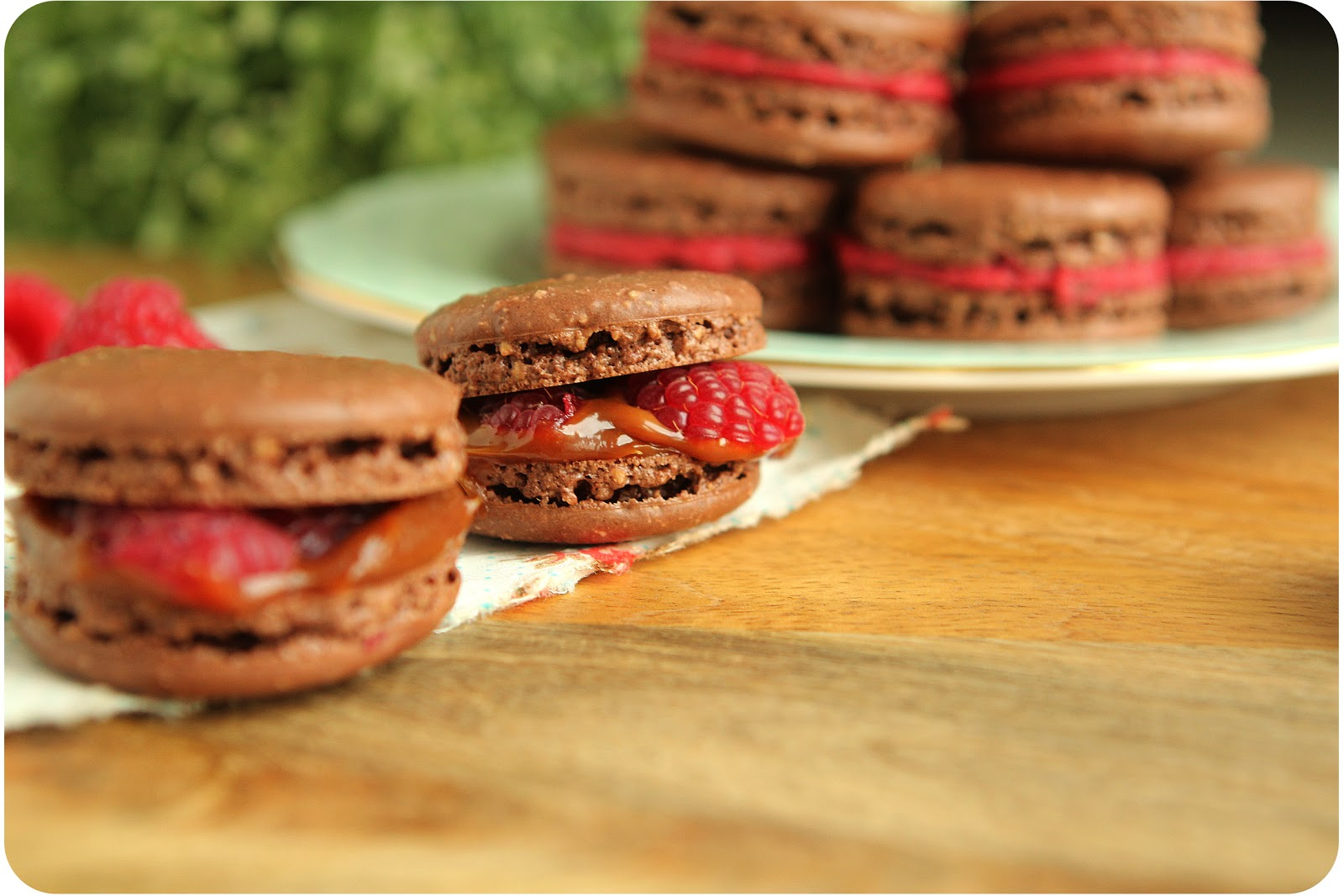 Dulce Delight: Chocolate macarons with dulce de leche