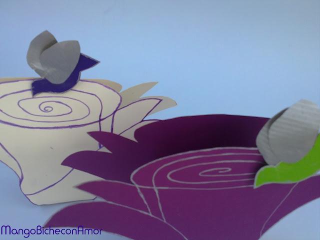 flor para bombones