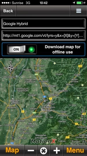 Use Ipad for navigation Motionx-custom-map-hinzufuegen