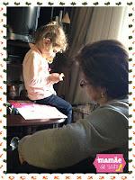 Sophia e sua bisavó brincando blog Mamãe de Salto ==> todos os direitos reservados