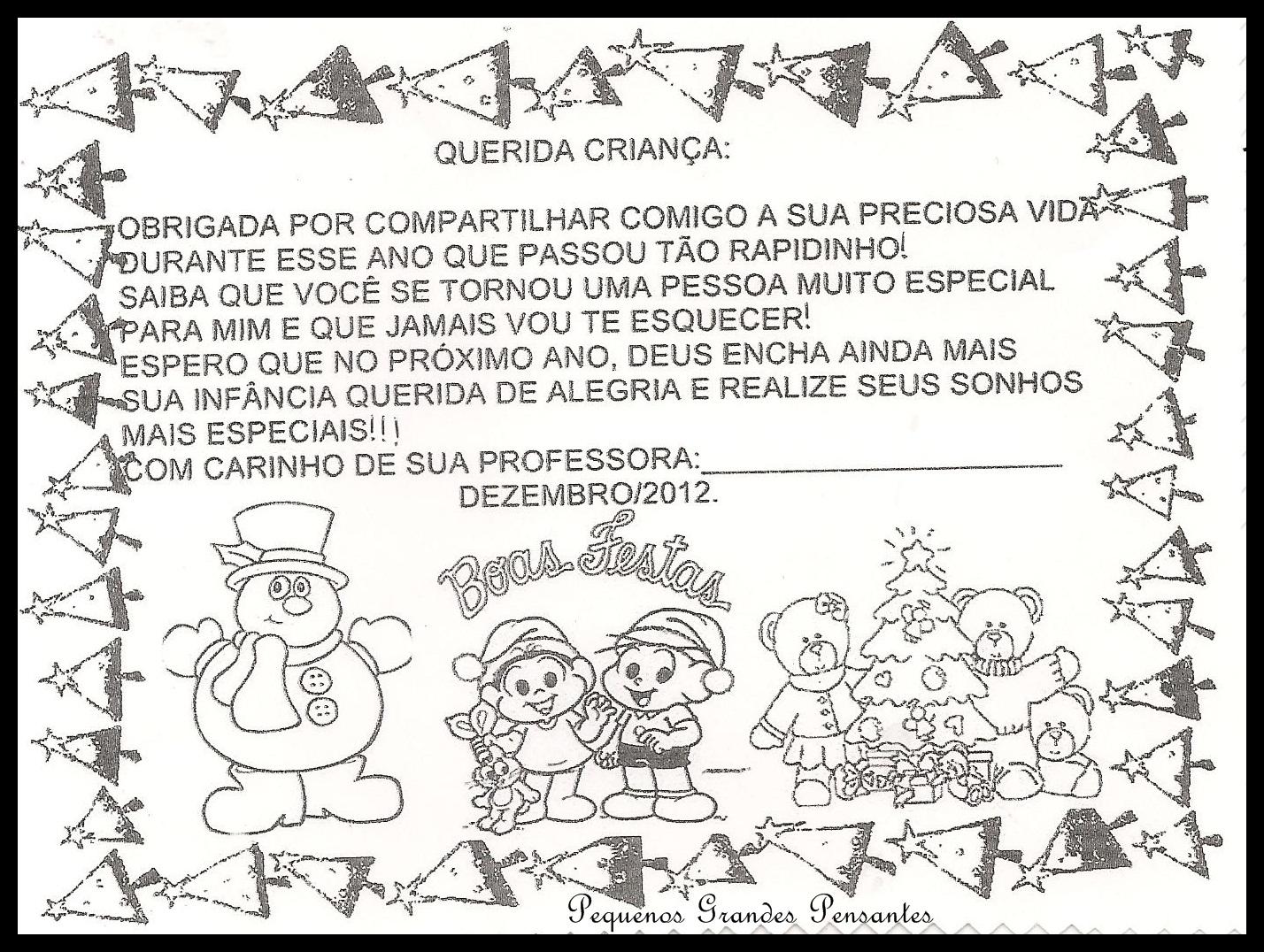 Excepcional Pequenos Grandes Pensantes.: Cartões de Natal para Educação Infantil QQ96
